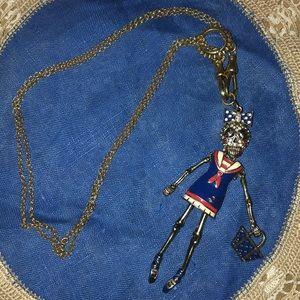 💀❣️Betsey Johnson Sailor Girl Necklace❣️💀